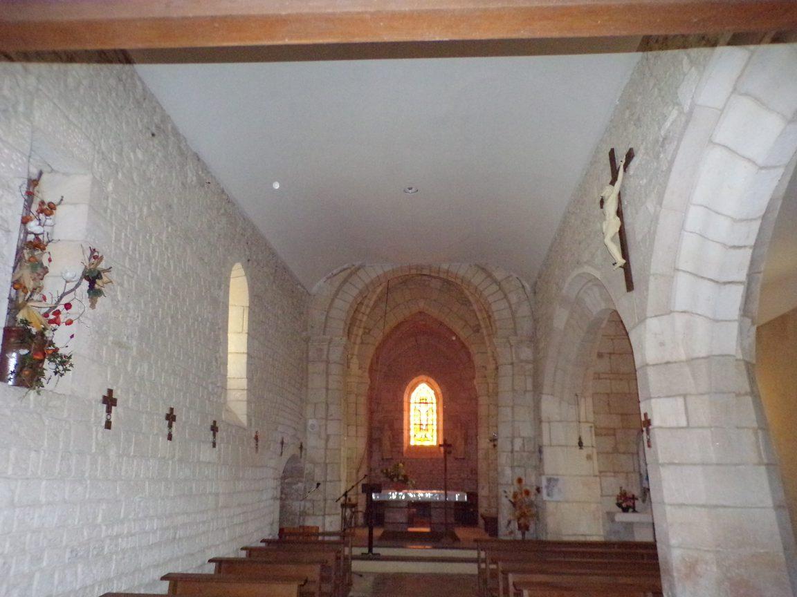 Saint-Martial sur le Né - L'église Saint-Martial - Vue de l'entrée (17 juillet 2018)