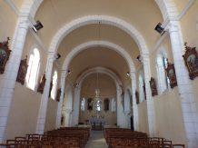 Sainte-Sévère - L'église Sainte-Sévère - Vue de l'entrée (23 juillet 2018)