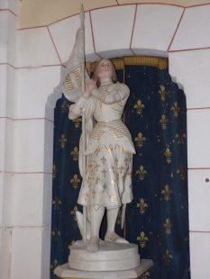 Sainte-Sévère - L'église Sainte-Sévère - Jeanne d'Arc (23 juillet 2018)