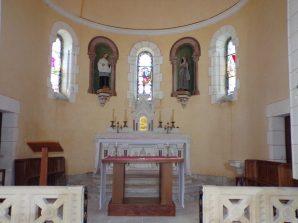 Sainte-Sévère - L'église Sainte-Sévère - L'autel (23 juillet 2018)