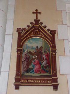 Sainte-Sévère - L'église Sainte-Sévère - Le chemin de croix (23 juillet 2018)