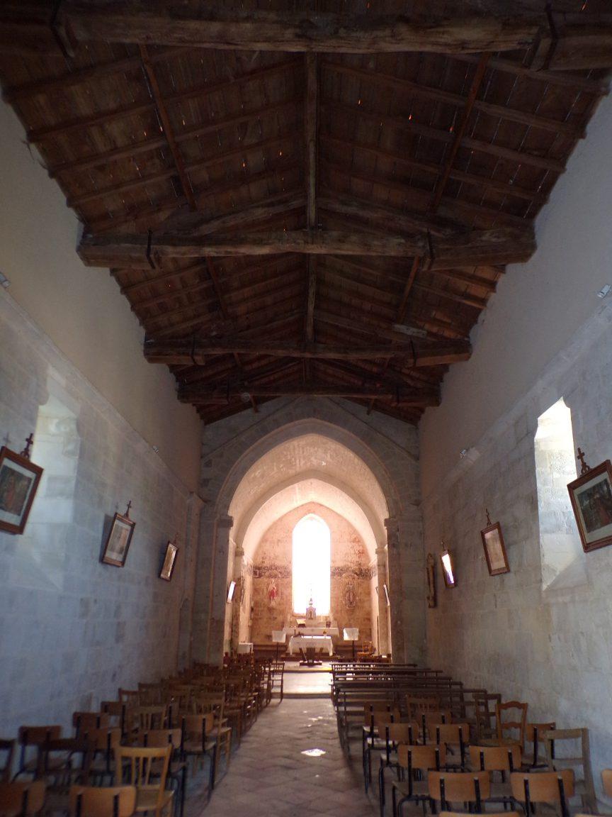 Ballans - L'Eglise Saint-Jacques - Vue de la porte d'entrée (20 août 2018)