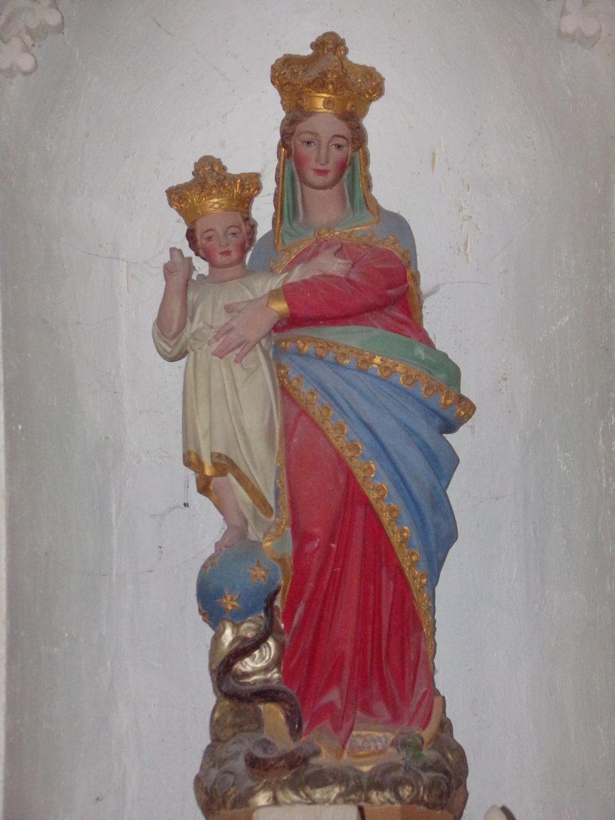 Ballans - L'église Saint-Jacques - La Vierge à l'Enfant (20 août 2018)