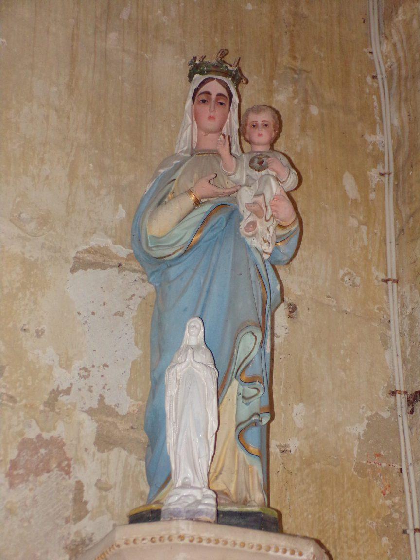 Brie sous Matha – L'église Saint-Pierre – Marie et jésus Christ (13 août 2018)