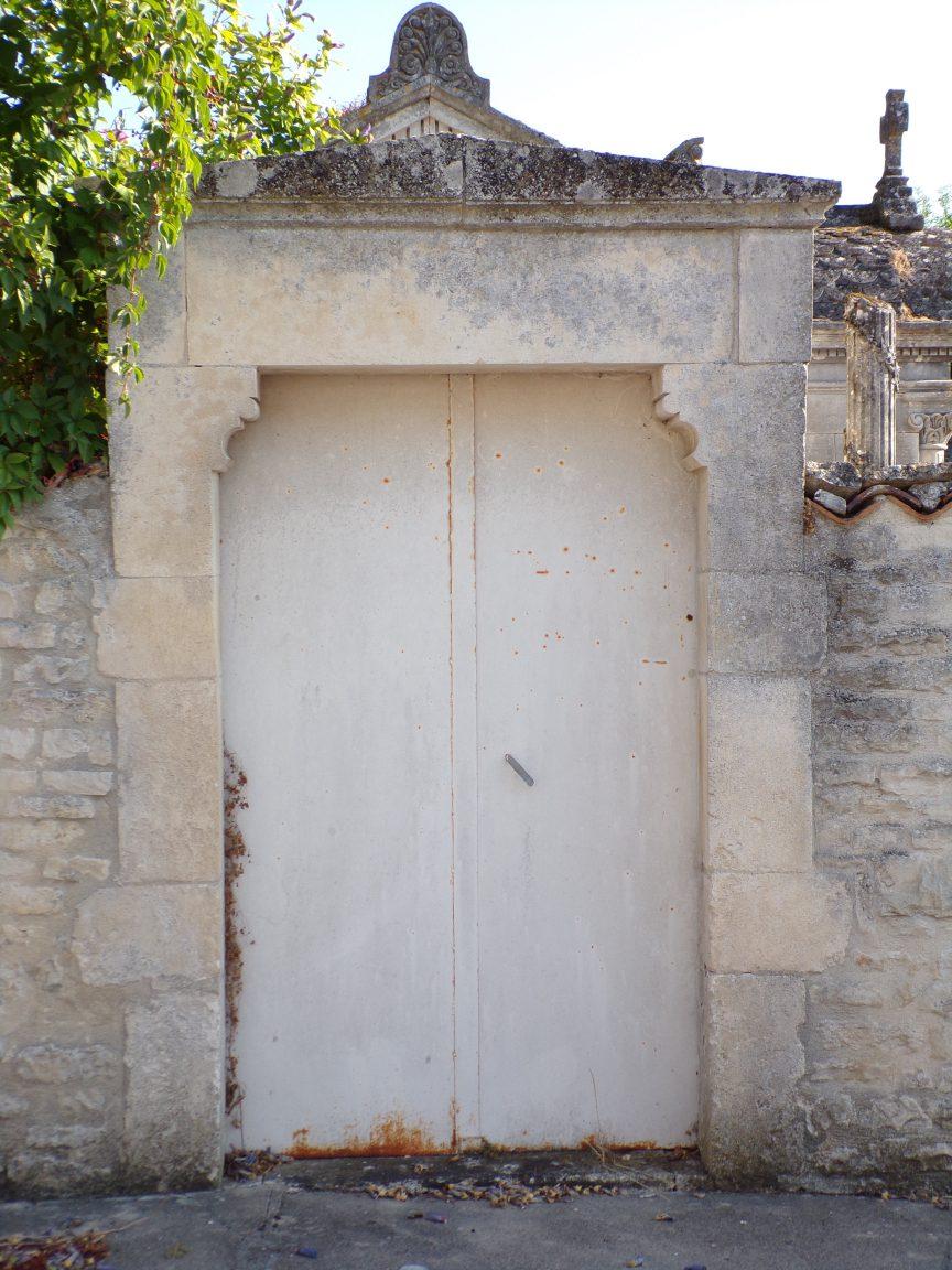 Houlette - L'entrée protestante du cimetière (20 août 2018)