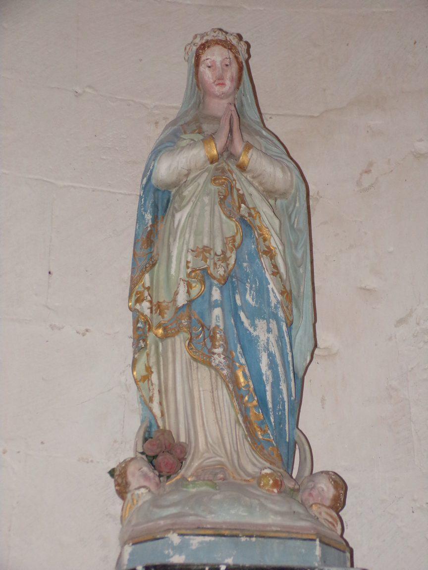 Matha - L'église Saint-Pierre de Marestay - Sainte Vierge Marie (13 août 2018)
