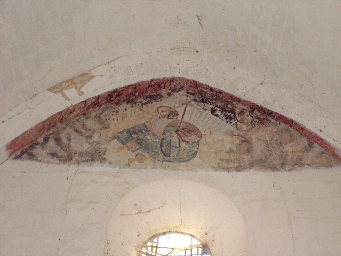 Plaizac - L'église Saint-Hippolyte (ou Saint-Martin) - Peinture murale (21 août 2018)