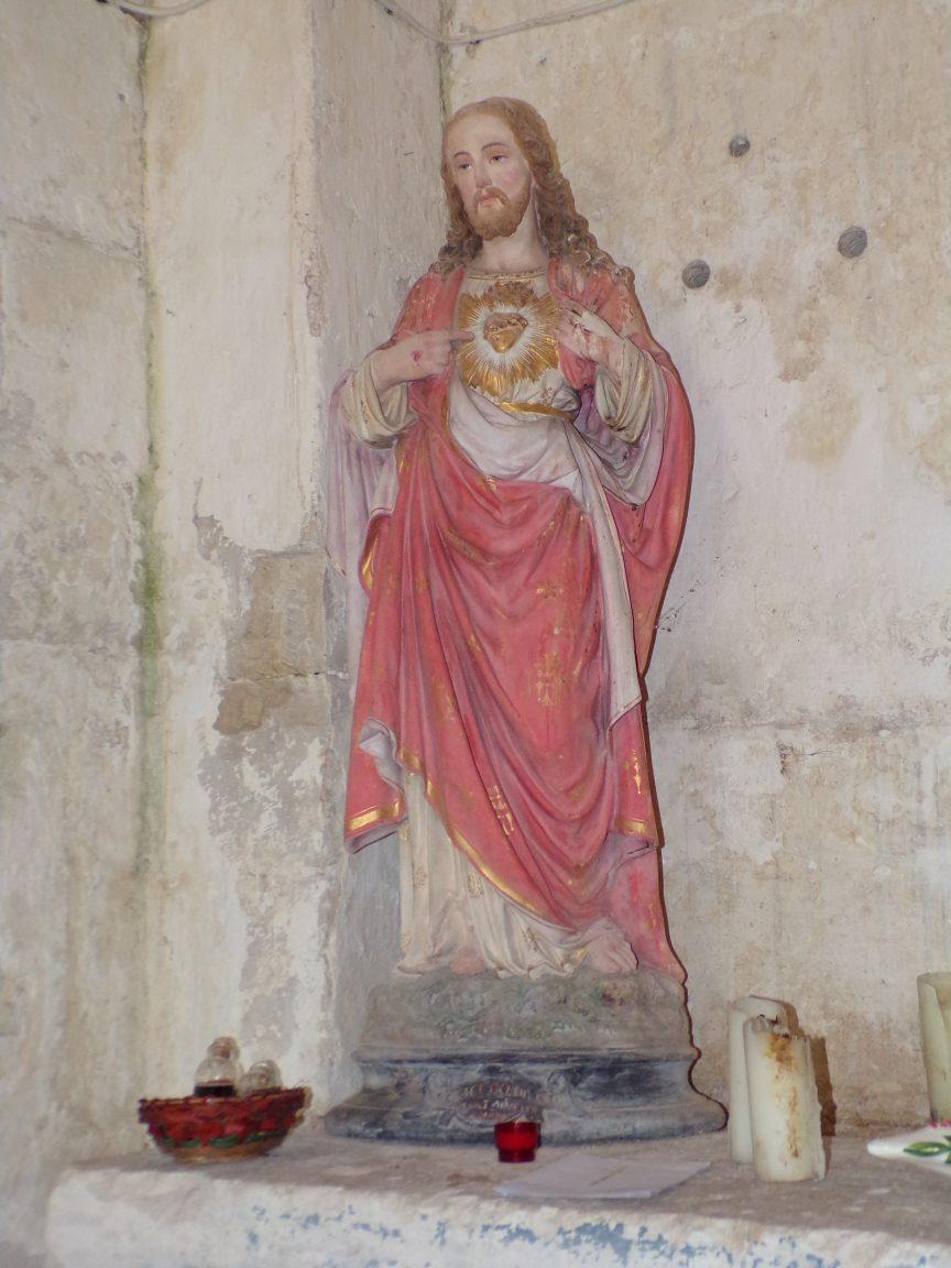 Plaizac - L'église Saint-Hippolyte (ou Saint-Martin) - Sacré Coeur de Jésus (21 août 2018)
