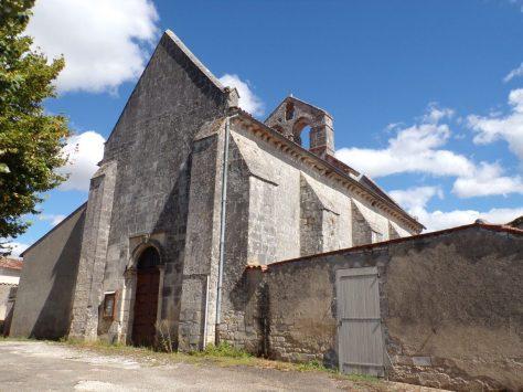 Triac-Lautrait - L'église (9 août 2018)