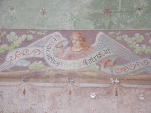 Neuvicq-le-Château - L'église Saint-Martin - Fresque sur le mur (16 septembre 2018)