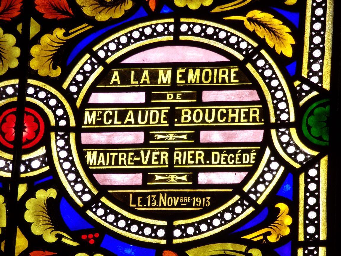 Vitrail a été offert par monsieur et madame James Boucher (5 mars 2019)