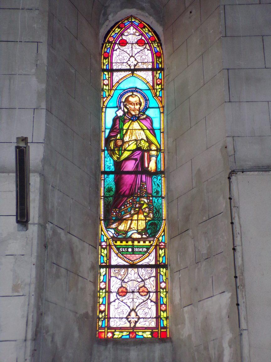 Javrezac - Vitrail évoque Saint Joseph (5 mars 2019)