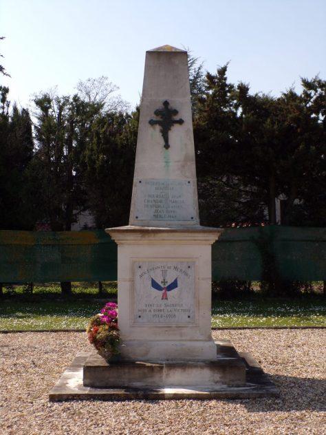 Merpins - Le monument aux morts (24 mars 2019)