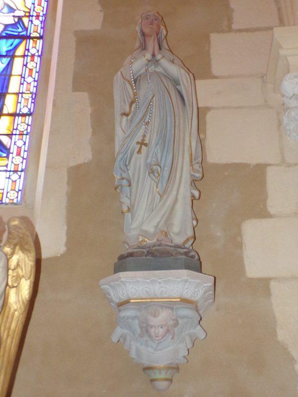 Angeac-Champagne - L'Eglise Saint-Vivien - Vierge miraculeuse (13 mai 2019)