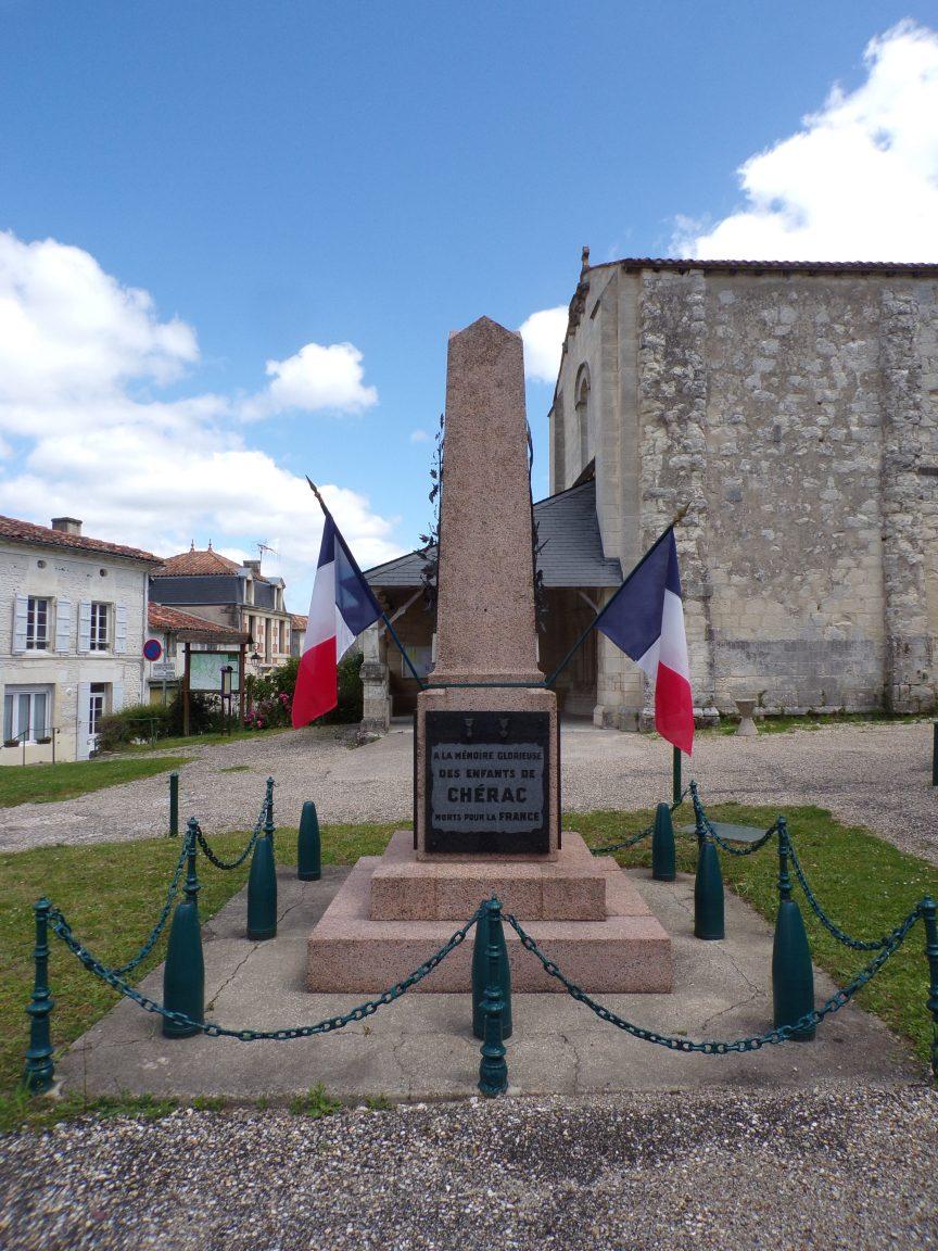 Chérac - Le Monument aux Morts (16 juin 2019)