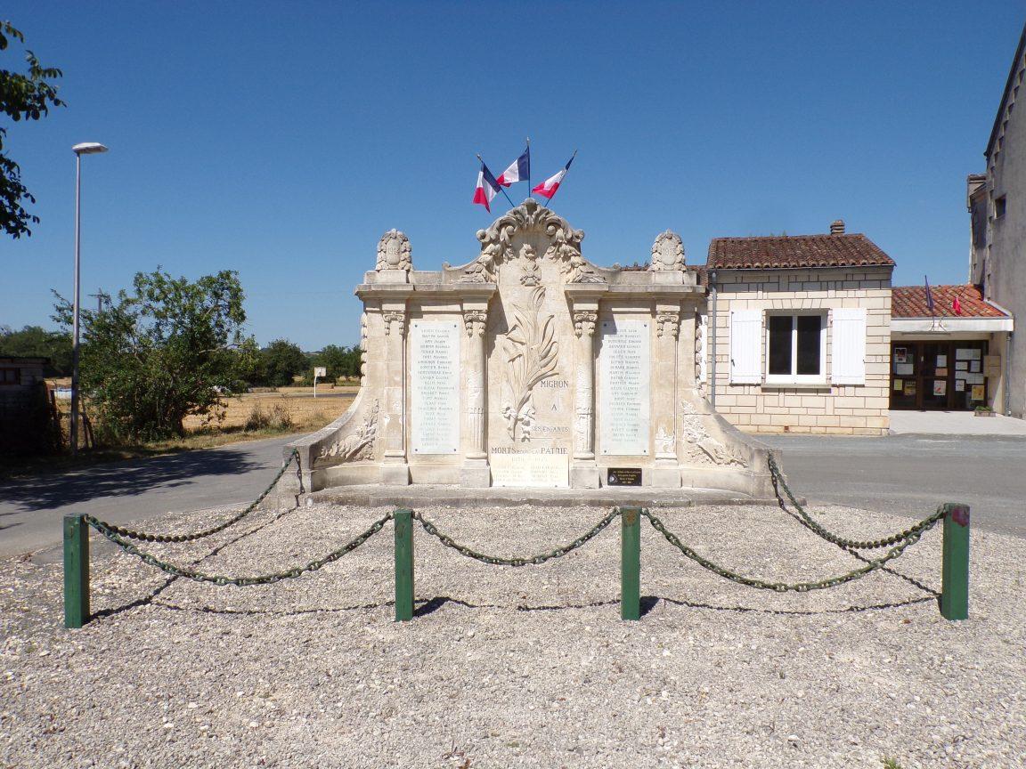 Migron - Le monument aux morts (14 juillet 2019)
