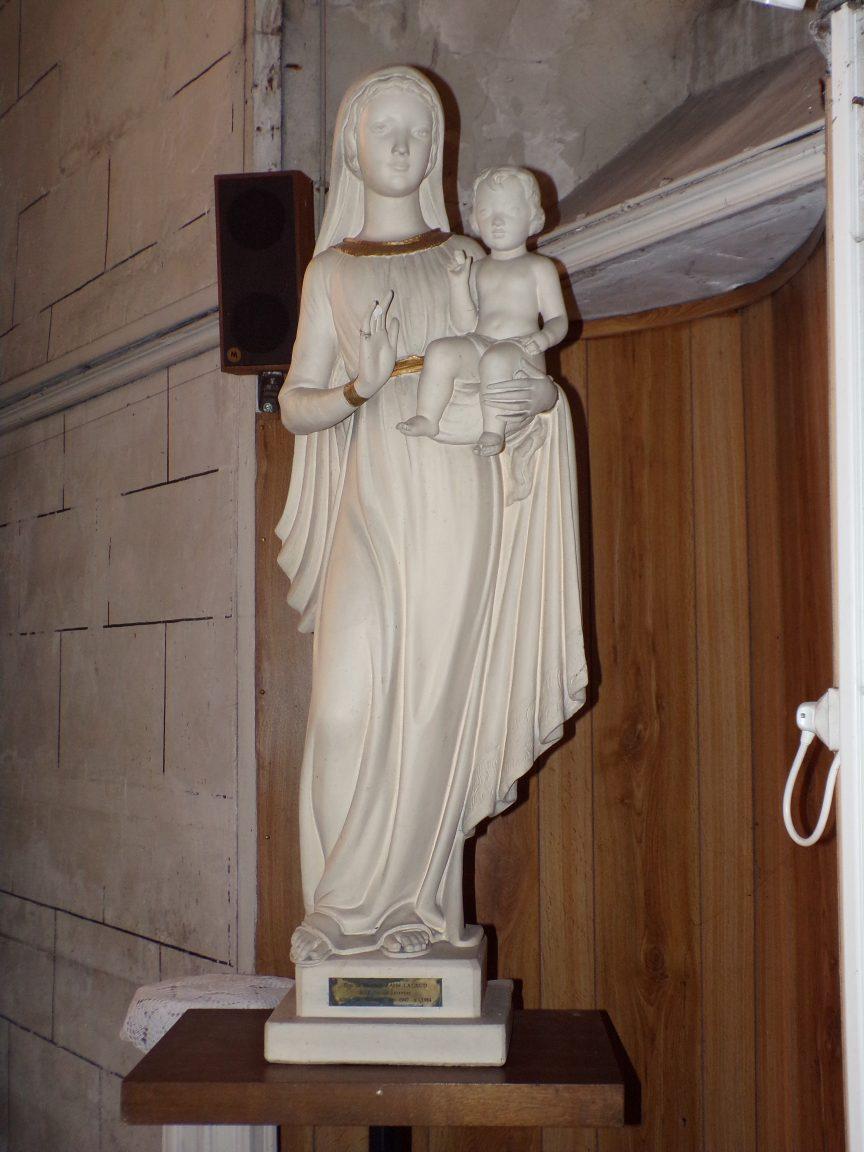 Javrezac - L'église Saint-Pierre - La Vierge Marie (5 mars 2019)