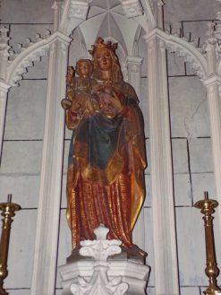 Javrezac - L'église Saint-Pierre - Vierge à l'Enfant (5 mars 2019)
