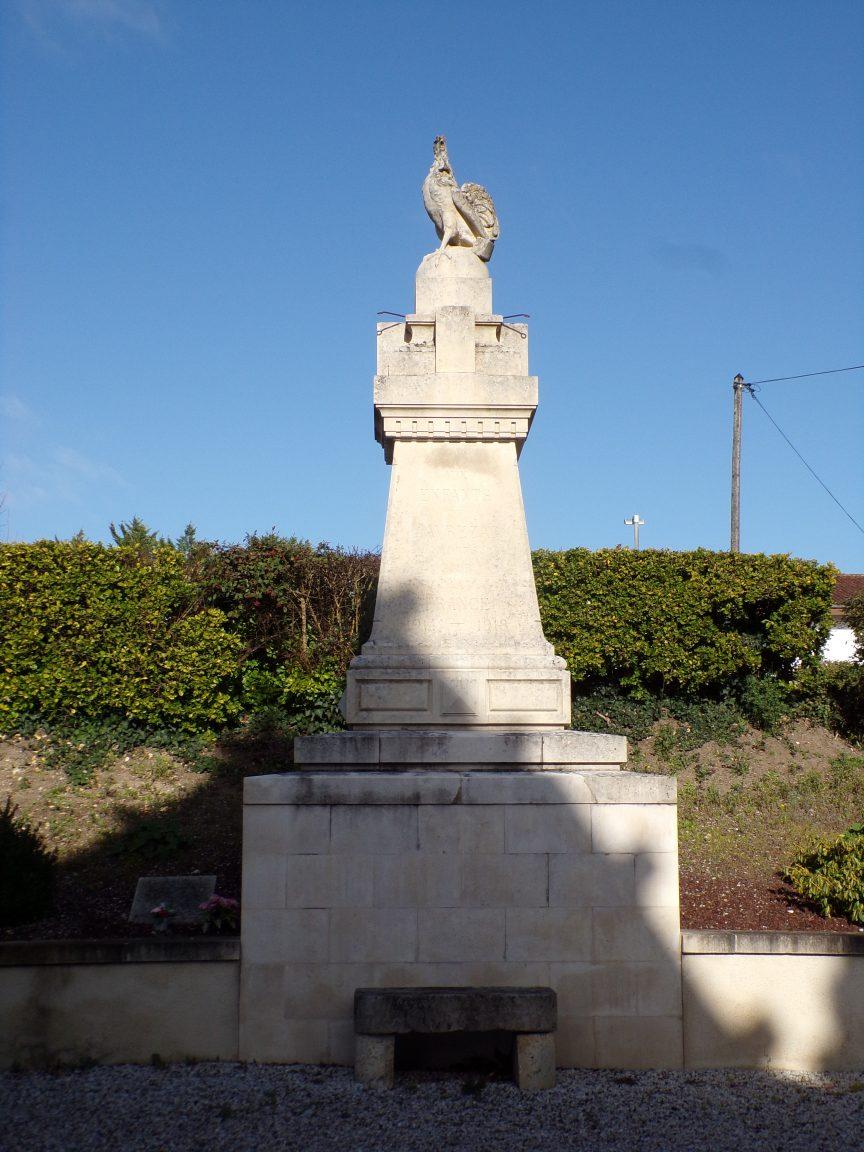 Javrezac - Le monument aux morts (5 mars 2019)