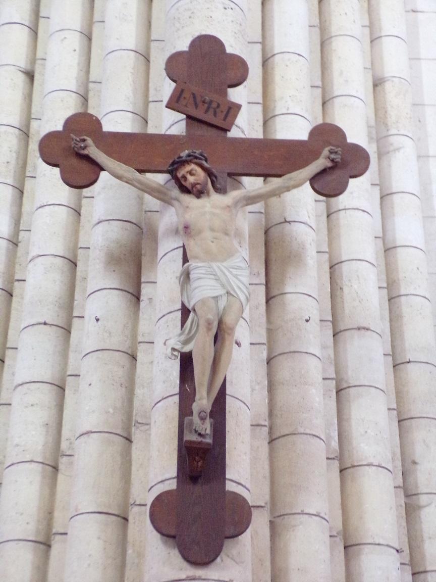 Bassac - L'abbaye Saint-Etienne - Le Crucifix (18 août 2016)