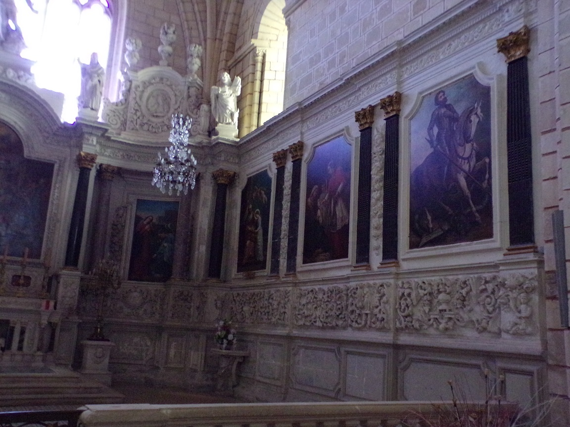 Bassac - L'abbaye Saint-Etienne - Des tableaux (18 août 2016)