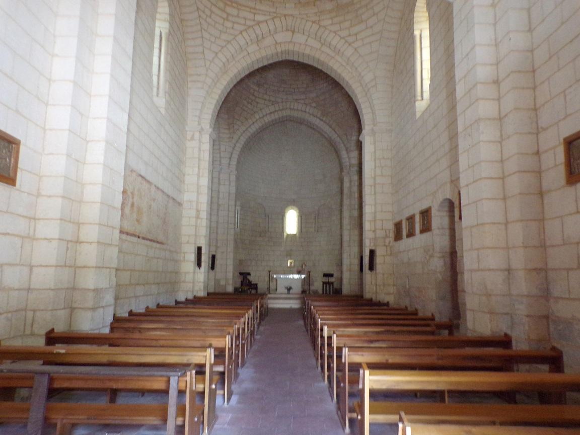 Bourg-Charente - L'église Saint Jean Baptiste - Vue de l'entrée (18 août 2016)