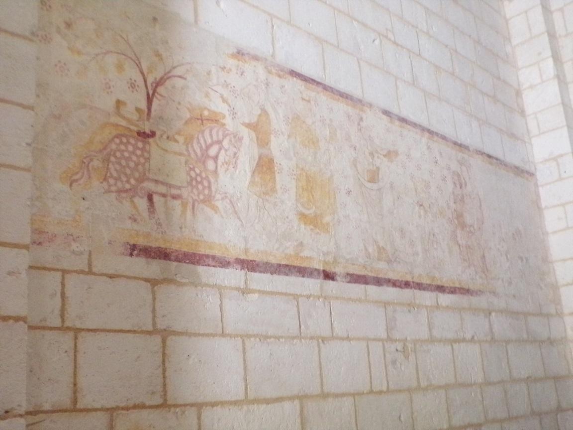 Bourg-Charente - L'église Saint Jean Baptiste - La peinture murale (18 août 2016)