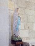 Chérac - L'église Saint-Gervais et Saint-Protais - La Vierge miraculeuse (3 septembre 2016)