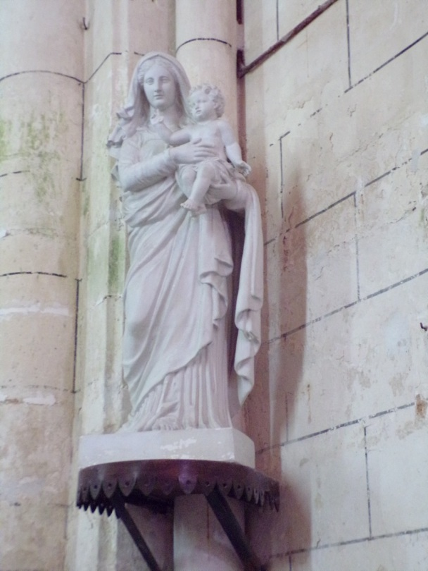 Genté - L'église Saint-Médard - Vierge et l'Enfant (18 septembre 2016)