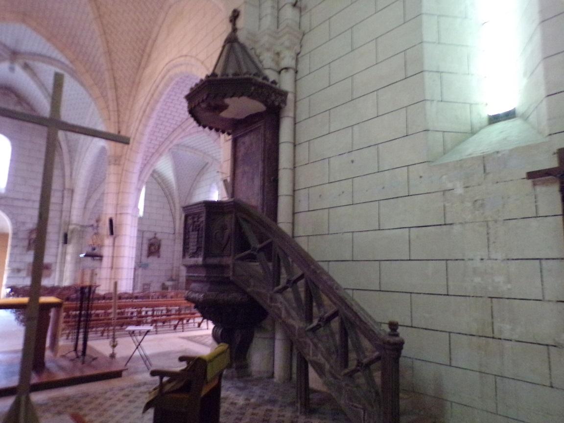 Genté - L'église Saint-Médard - La chaire (18 septembre 2016)