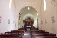 Cherves-Richemont - L'église Saint-Vivien - Vue de l'entrée (3 avril 2017)
