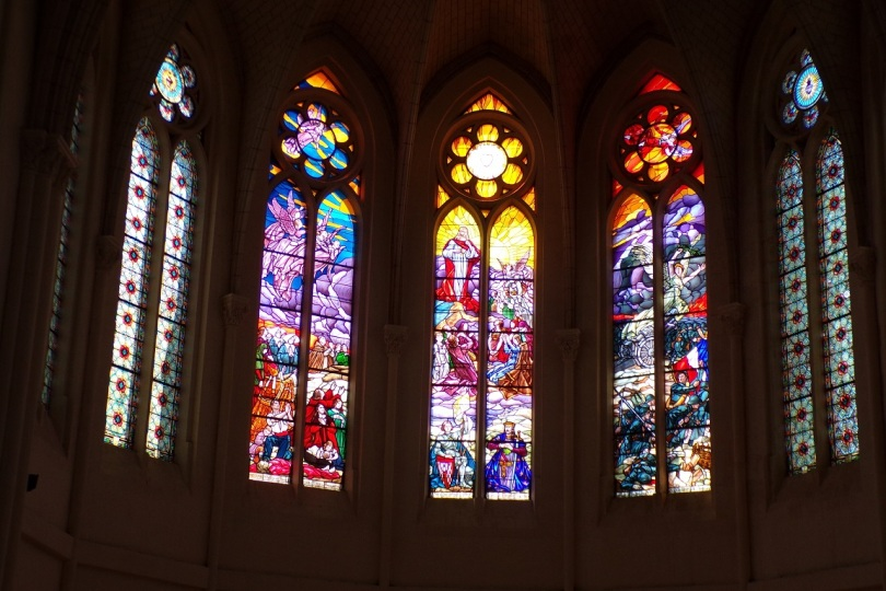 Église Saint-Martin, du Sacré-Coeur - Des vitraux (17 juin 2017)