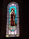 Jarnac - L'église Saint-Pierre - Le vitrail 'Ste Thérèse de l'enfant Jésus' (21 septembre 2016)