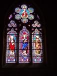 Jarnac - L'église Saint-Pierre - Le vitrail 'St Pierre, St Paul' (21 septembre 2016)