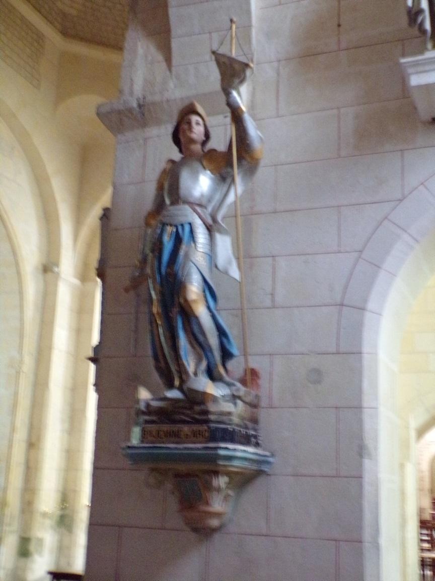 Juillac-le-Coq - L'église Saint-Martin - Jeanne d'Arc (18 septembre 2016)