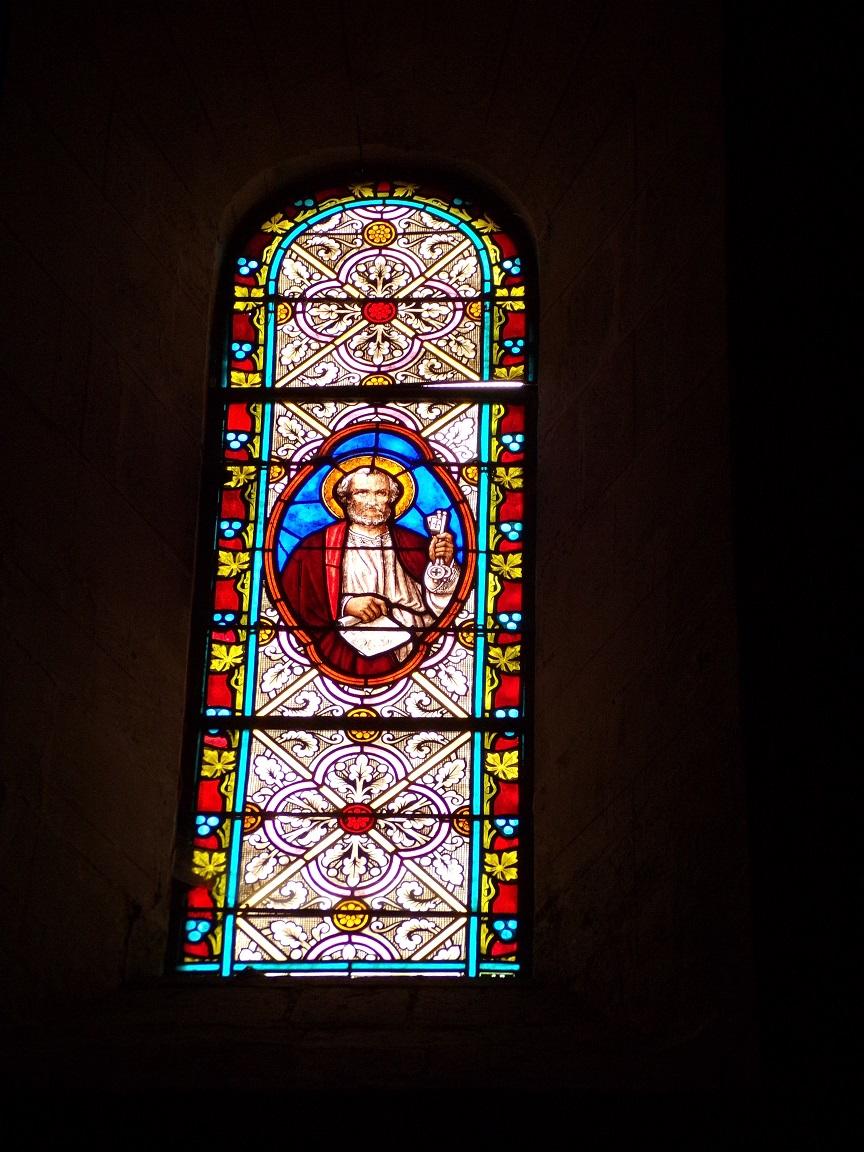 Juillac-le-Coq - L'église Saint-Martin - Un vitrail (18 septembre 2016)