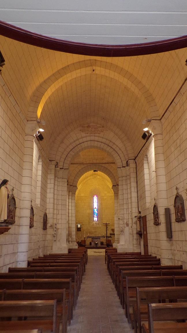 Nercillac - L'église Saint-Germain - Vue de l'entrée (10 avril 2018)