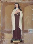 """Lonzac - L'église Notre-Dame - Sainte Thérèse de Lisieux dite """"Sainte Thérèse de l'Enfant Jésus"""" (8 juillet 2018)"""