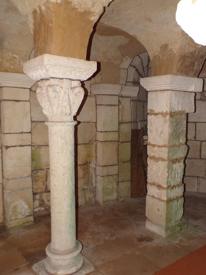 Cherves-Richemont - La crypte de l'église Saint-Georges (18 septembre 2016)