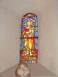 Cherves-Richemont - L'église Saint-Georges - Le vitrail 'St Henri aus aonf' (18 septembre 2016)