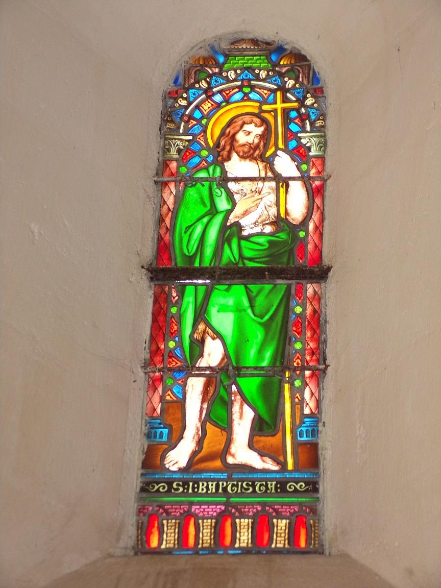 Cherves-Richemont - L'église Saint-Georges - Le vitrail 'St Jean Baptiste' (18 septembre 2016)