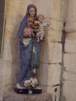Saint-Même-les-Carrières - L'église Saint-Maxime - Vierge à l'Enfant (8 septembre 2016)