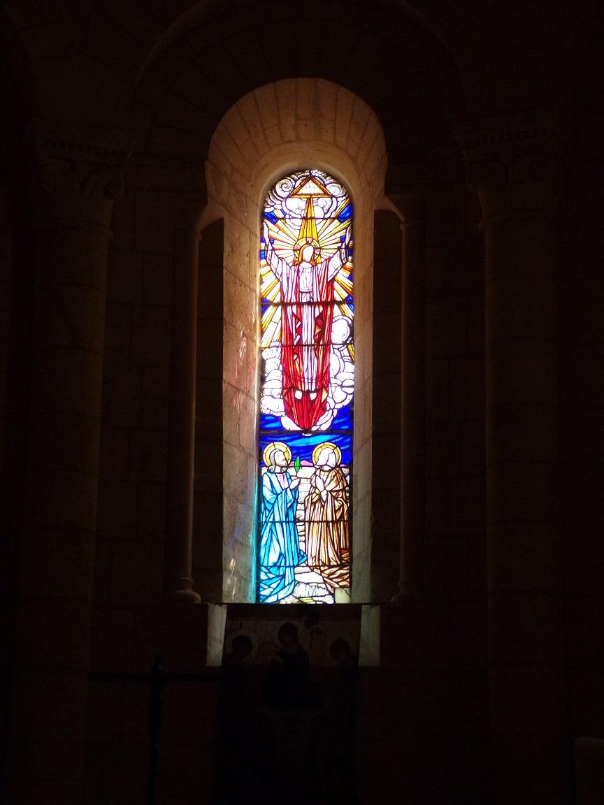 Saint-Même-les-Carrières - L'église Saint-Maxime - Le vitrail 'Sacré-Coeur de Jésus' (8 septembre 2016)