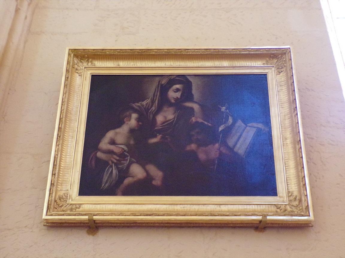 Salles d'Angles - L'église Saint-Maurice - Un tableau (22 août 2016)