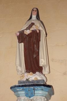 Salles d'Angles - L'église Saint-Maurice - Sainte Thérèse de l'Enfant Jésus (3 avril 2017)