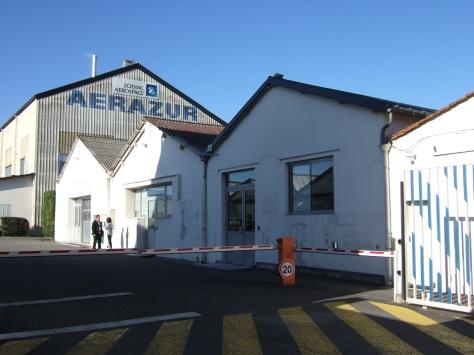 Scierie Pierre Lucien Marchand, usine de construction aéronautique, usine textile, actuellement usine Areazur EFA Groupe Zodiac (9 octobre 2015)