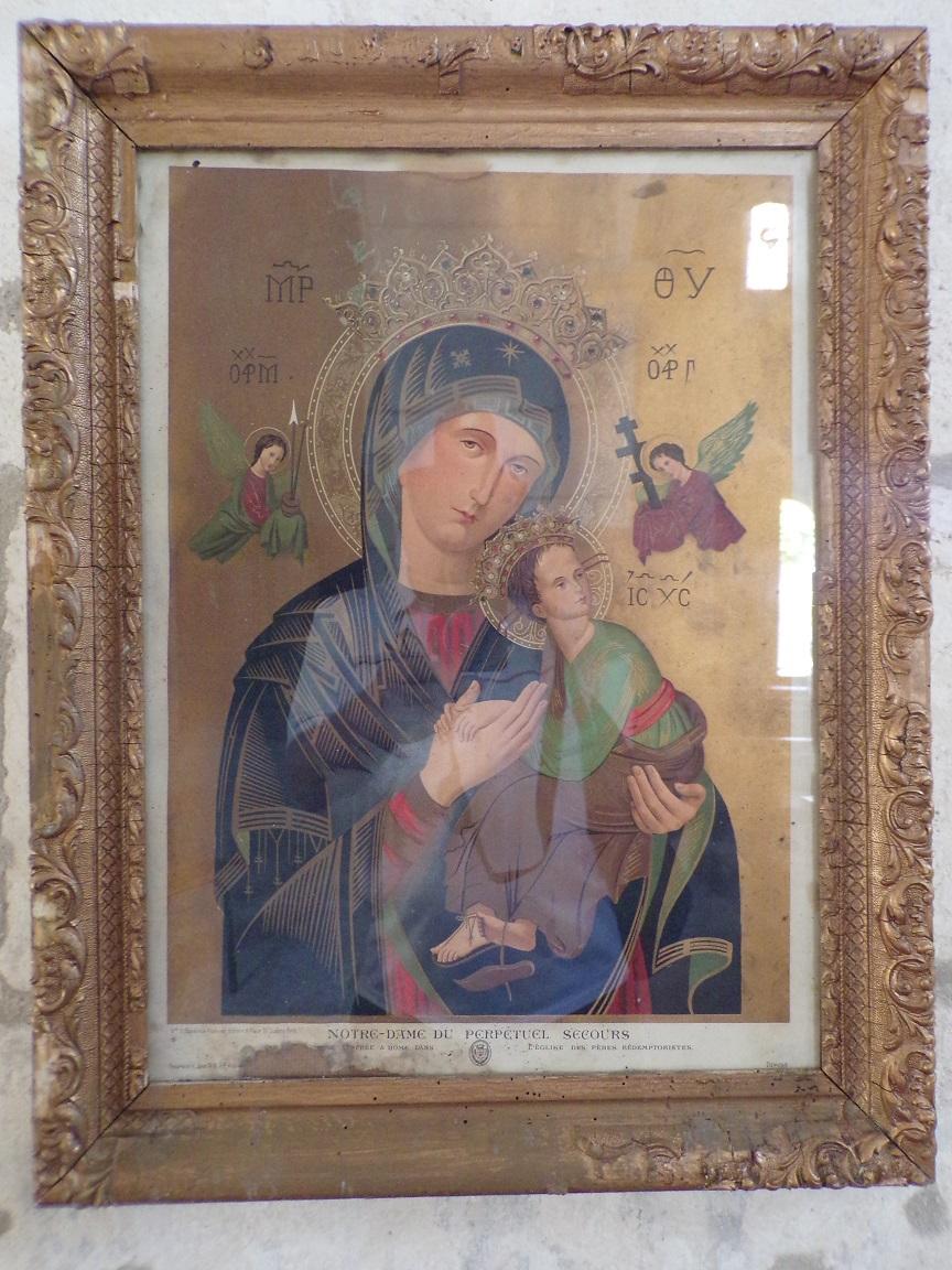 Dompierre-sur Charente - L'église Saint-Blaise - Le tableau 'Notre-Dame du Perpétuel Secours' (21 août 2019)