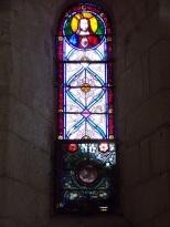 Thors - L'église Sainte-Madeleine - Le vitrail 'Sacré Coeur de Jésus' (19 août 2019)