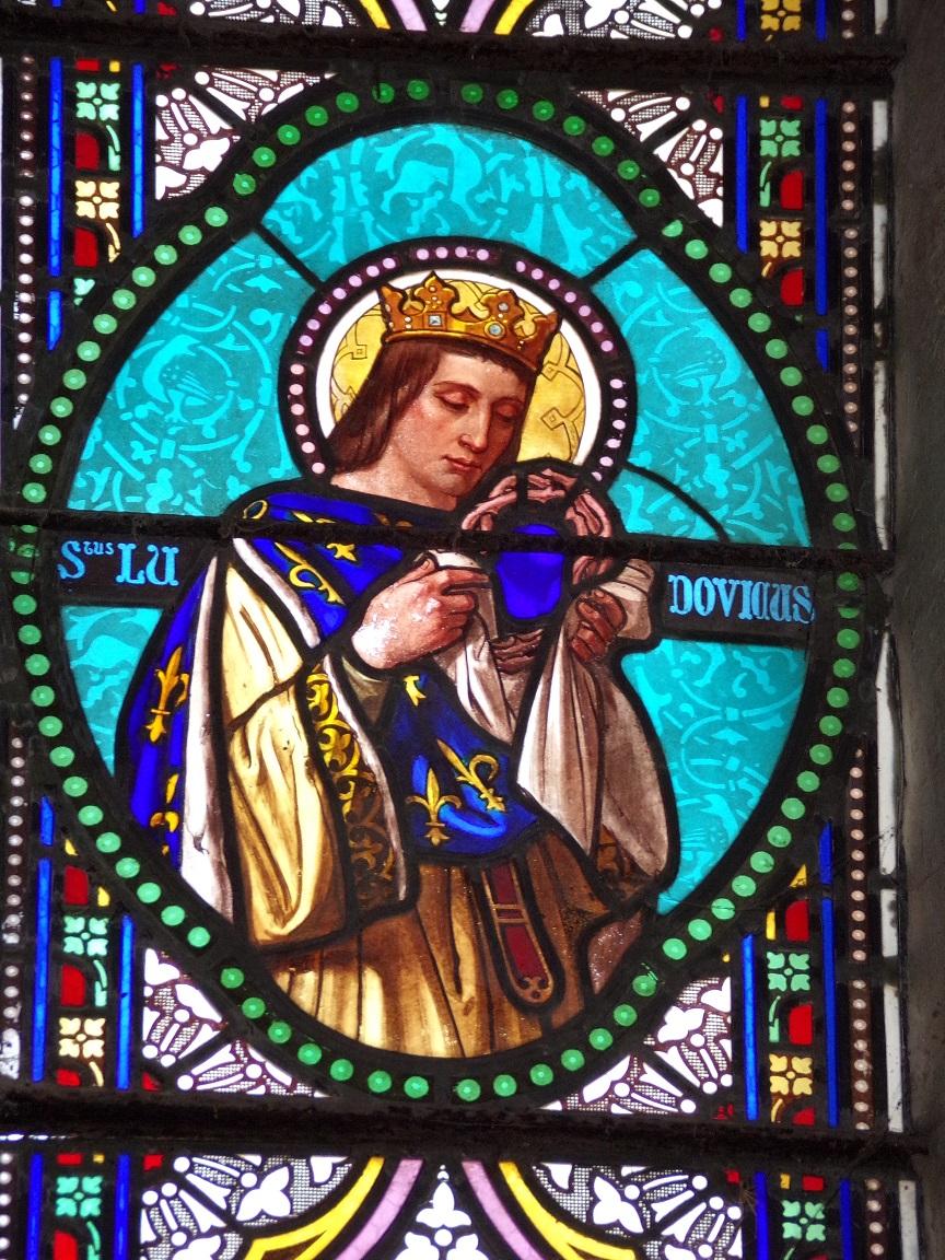 Migron - L'église Saint-Nazaire - Le vitrail 'Saint Ludovic' (29 juin 2019)