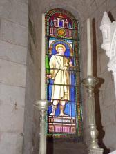 Migron - L'église Saint-Nazaire - Le vitrail 'Saint Nazaire' (29 juin 2019)